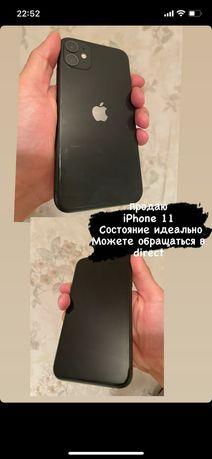 iPhone 11 64гб черный цвет состояние идеальное