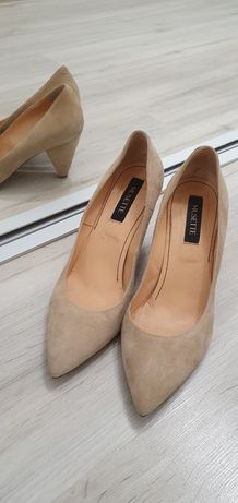 Pantofi piele intoarsa mar 40 musette toc 8