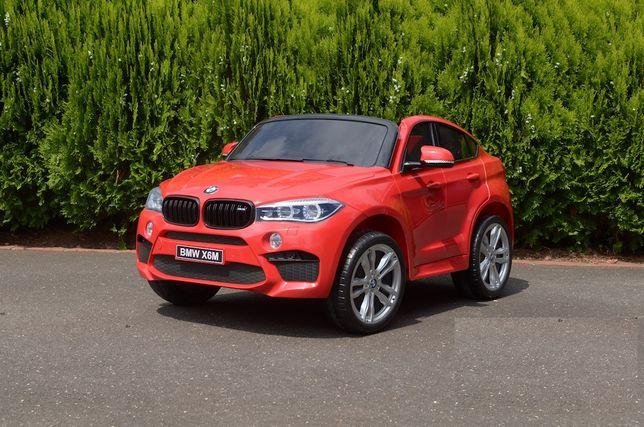 Masinuta electrica pentru 2 copii BMW X6M 2x120W #Rosu