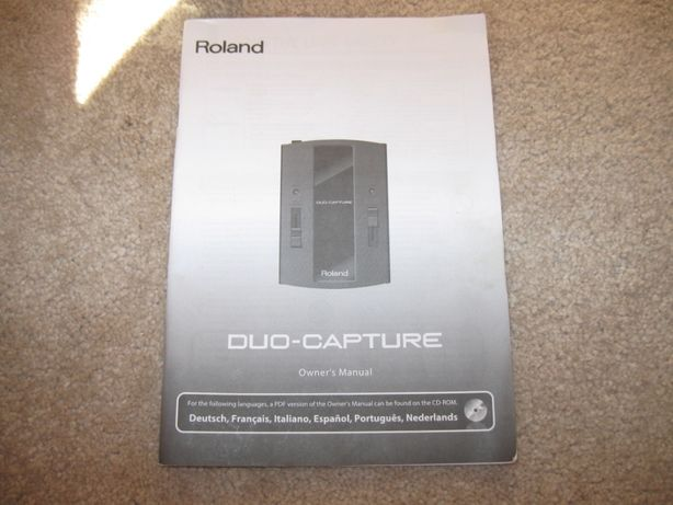 vand roland duo-capture usb audio interface