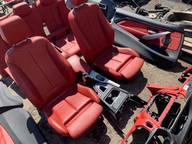 interior bmw f30 f32 f34 rosu piele m paket seria 4 coupe dezmembrez