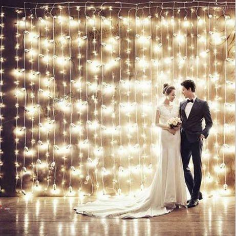 Лампички тип завеса с 300 LED 3×3м