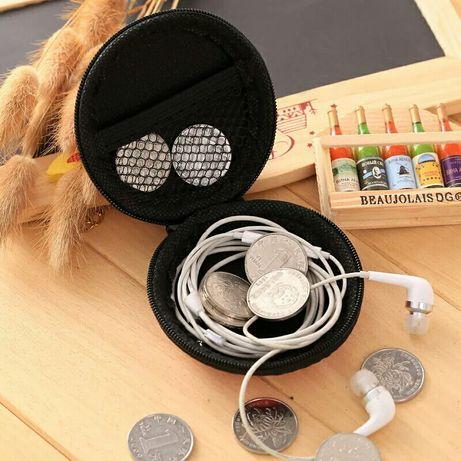 3 modele pouch toc case husa casti earphones zipper sau magnet