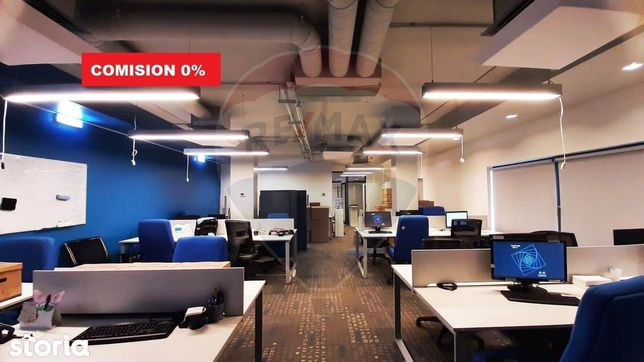 Spațiu de birouri de închiriat 856mp Central. Comision 0%