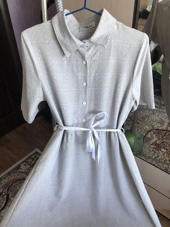 корейское платье хлопковое