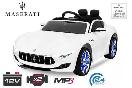 Masinuta electrica Kinderauto Maserati Alfieri CU ROTI MOI 12V #Alb