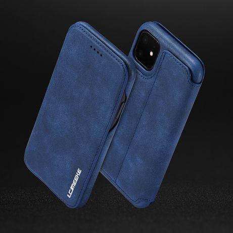 Husa iPhone 11, slim piele, inchidere magnetica, textura fina, CaseMe