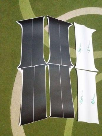Autocolant negru carbon/mat montanti/stalpi(doors vinyls) Dacia Duster