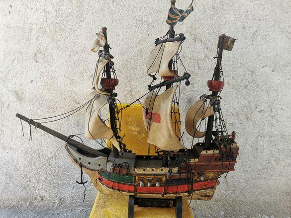 Страхотен дървен кораб ръчна изработка MayFlower
