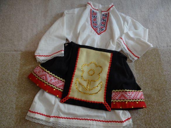 Детска народна носия за момиче. За ръст 110-125 см.