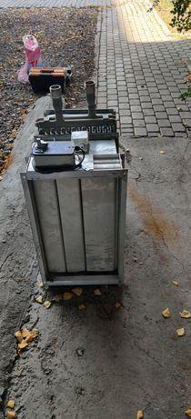 Радиатор и термостат для приточной вентиляции с автоматической заслонк