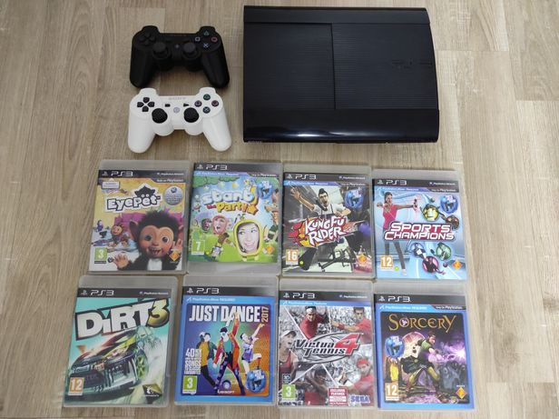 Vand PS3 slim în perfecta stare + jocuri move