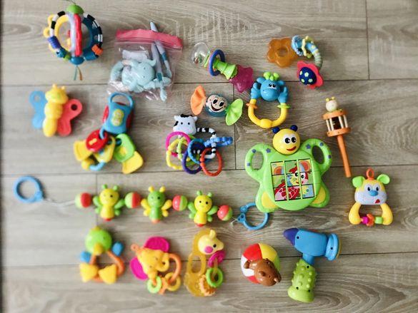 Сет играчки дрънкалки гризалки музикални ръкавичка за никнещи зъби