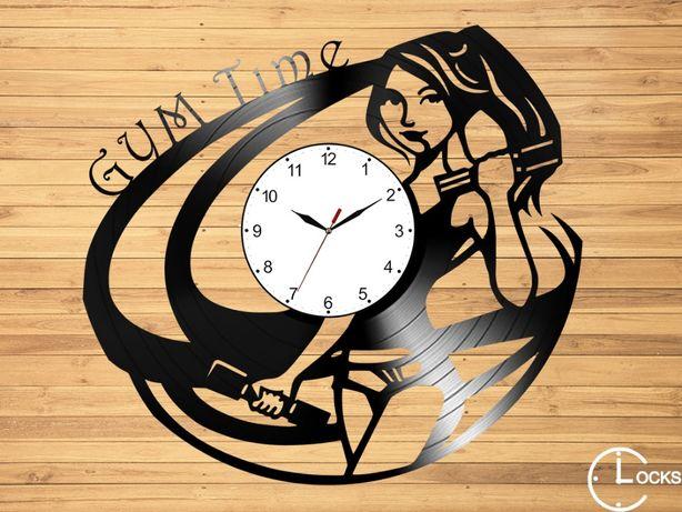 Ceas de perete din lemn Sala Fitnes | sport echipament design stil