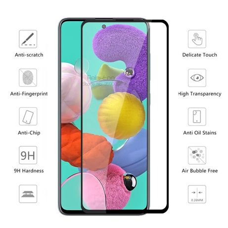 5D Стъклен протектор за Samsung Galaxy А21s / A41 / A51 / A71 A80