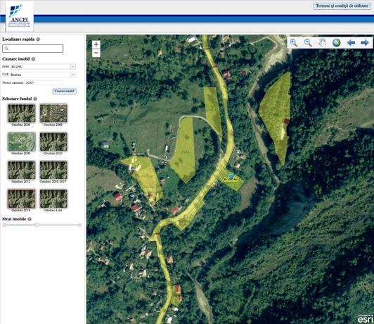 Teren intravilan in Bozioru,Buzău (285;1230;4405mp) 4,9EUR/m