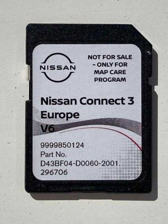 Ново 2021-2022г NISSAN CONNECT3 V5 Навигационна SD Card сд карта Нисан