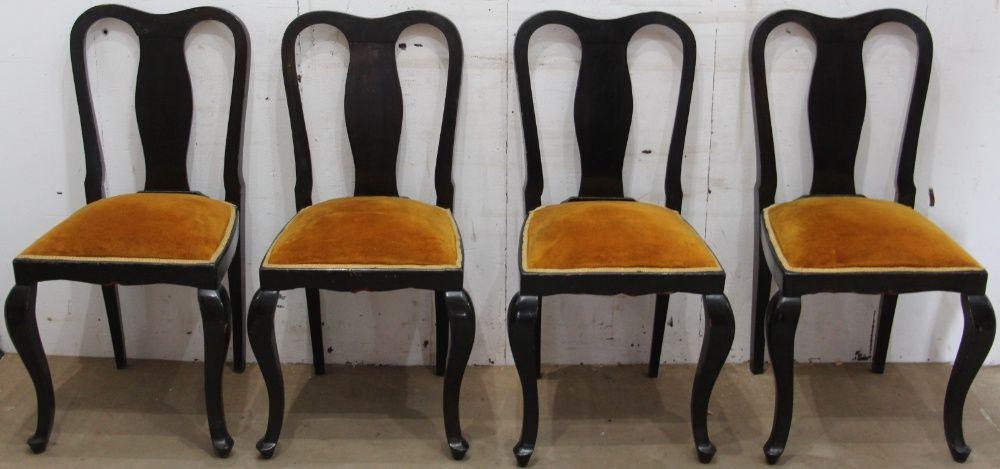 10 buc. Scaune Vintage Stil Florentin; Scaun lemn masiv tapitat