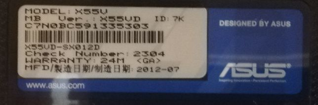 Dezmembrez Asus x55vd