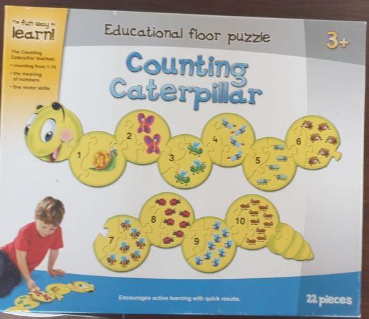 Vand puzzle copii Counting Caterpillar