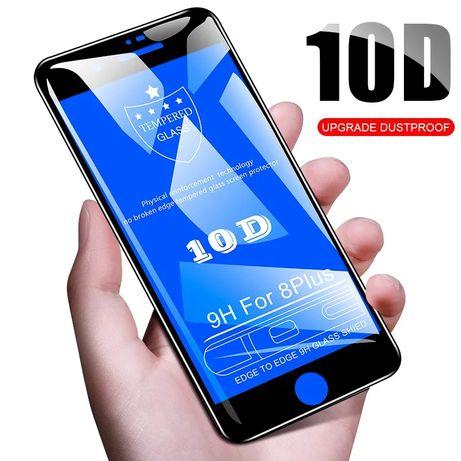 10D Стъклен Протектор iPhone 5 7 8 Plus Xs Max Xr X закалено стъкло