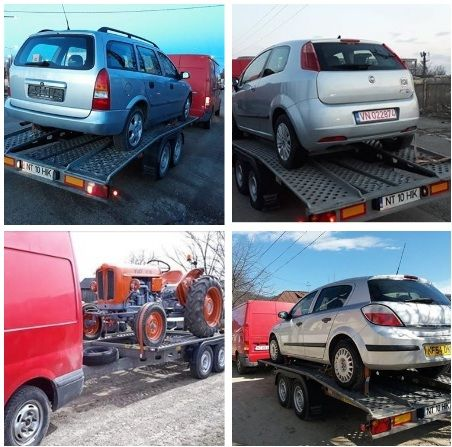 Tractari auto intern Platforma auto Transport utilaje mici dimensiuni