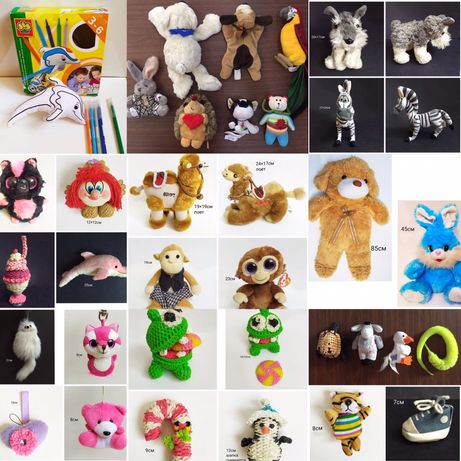 Мягкие игрушки 33шт все за 10000