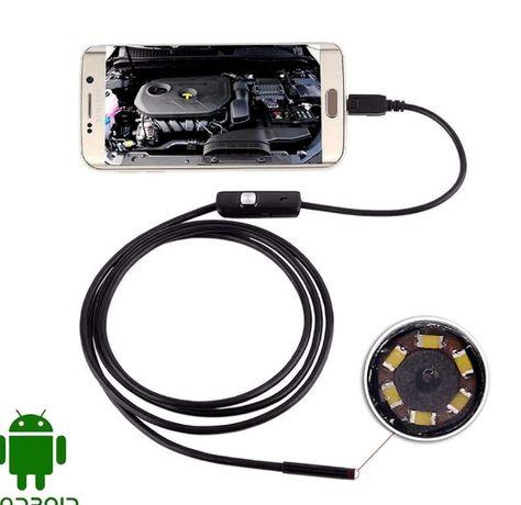 Камера - Эндоскоп Бароскоп для смартфона, компьютера (USB), с подсв...