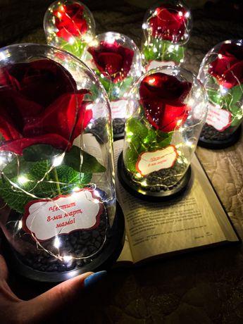 ТОП!! Вечна роза в куполче/ 8 март/ уникален подарък за жена