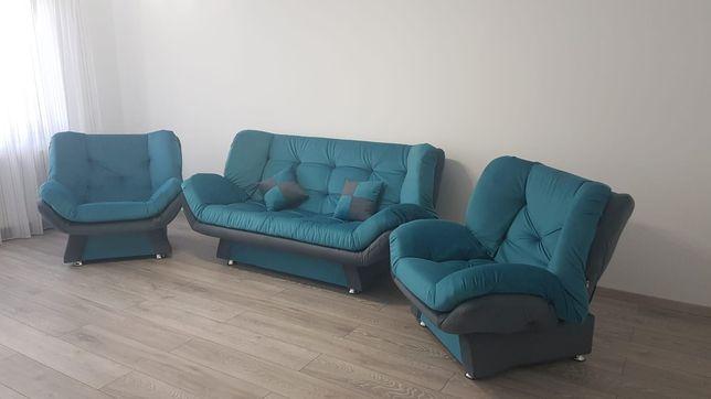 Set canapea si fotolii extensibile
