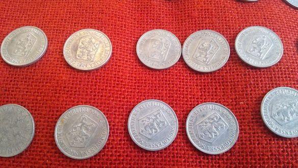 Чешки монети, 51 броя, емисии от 1962г. до 1969г., много запазени