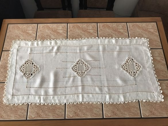 Покривка на една кука ръчна изработка 4 броя и куки за плетене