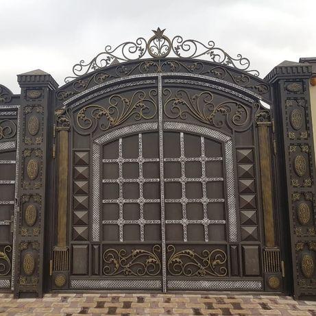 Красим ворота, двери,навесы и.т.д