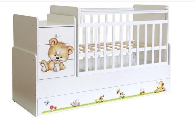 Детская кроватка трансформер 3в1