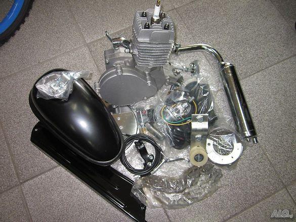 Двигател за велосипед бензинов 80 кубика,50 кубика, 100 кубика