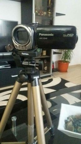 Schimb cu diverse Panasonic Camera video FullHD+trepied hama+card 32 G