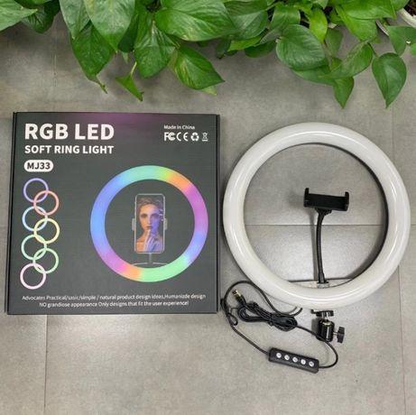 Цветная кольцевая лампа MJ33 RGB 33см (Гарантия 3 месяца!)
