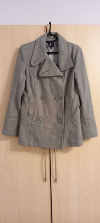 Palton gri cu nasturi damă