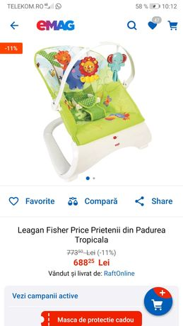 Leagăn bebe brand Fisher price