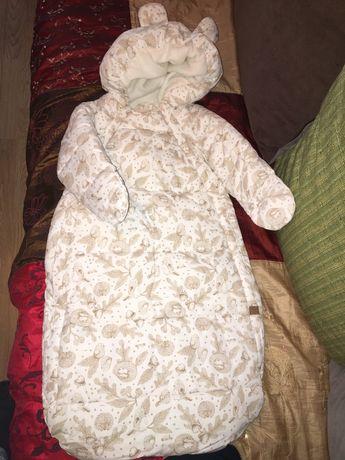 Combinezon cu gluga tip sac copil H&M pentru carucior 62/68 cm