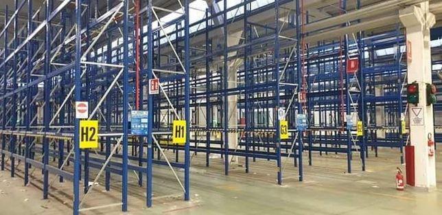 Rafturi metalice albastre cu lățime 8x 4000 x67x