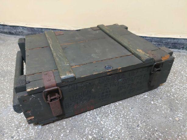 Lada lemn munitie scule decor originala