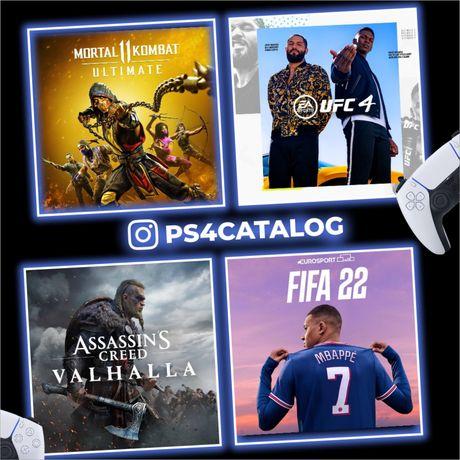 Игры на PS4/PS5 с гарантией FIFA22 UFC4 GTA5 MORTAL KOMBAT 11