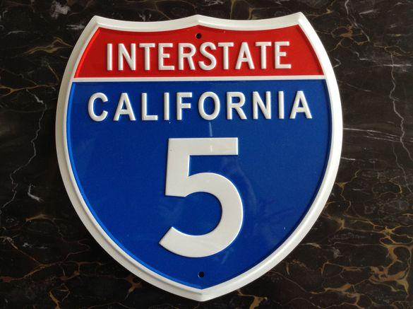 Табела Междущатска магистрала 5 САЩ