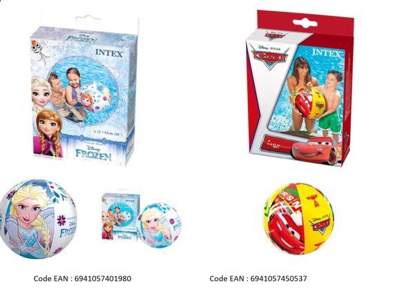 ЛОТ надуваеми плажни топки и дюшеци Frozen и Cars