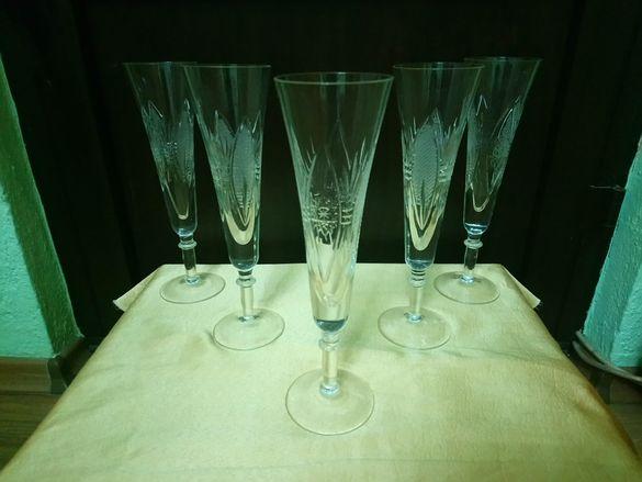 Кристални чаши - 4 вида