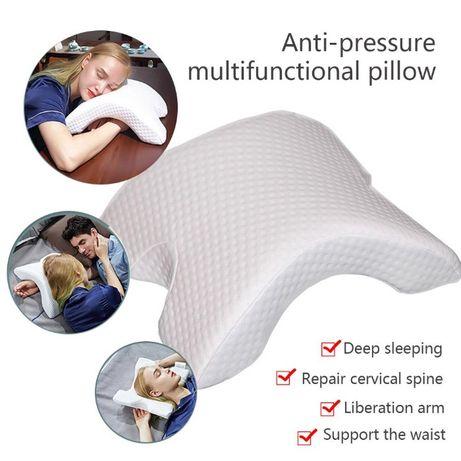 Perna anatomica curbata, multifunctionala, PressureFree