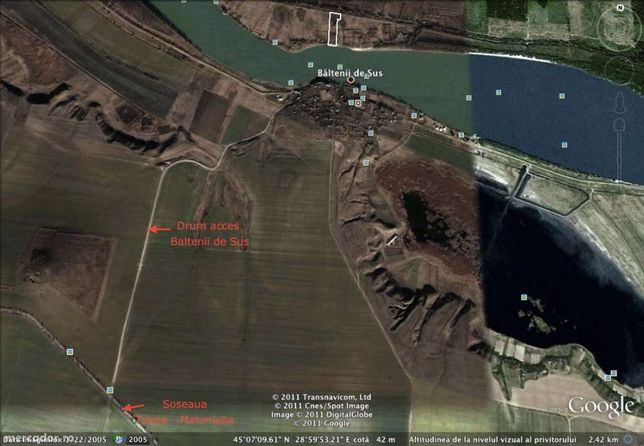 Schimb/vand teren intravilan Delta Dunarii, Baltenii de Sus, 8000mp