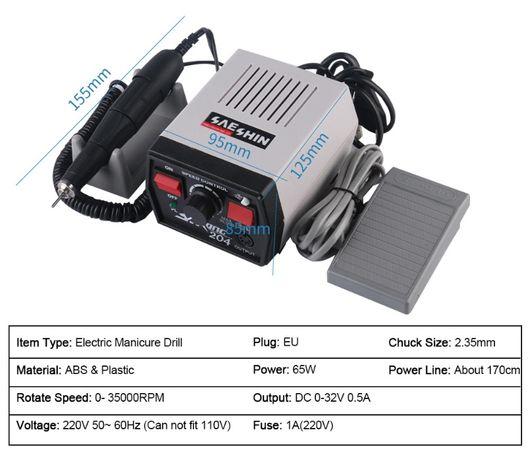 Bijutier.Strong 210 204 65W Electric Nail Drill Machine 35000RPM