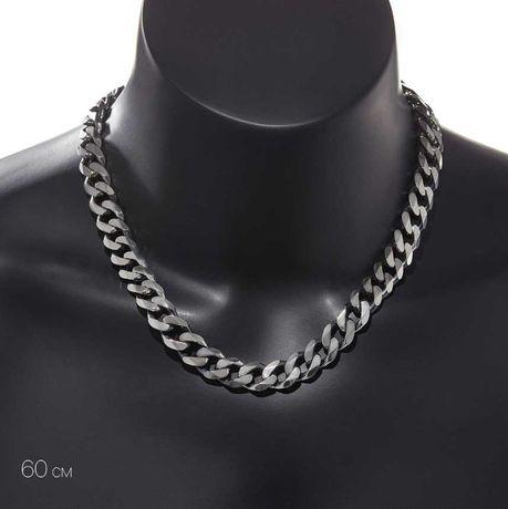 мужская цепь на шею Викинг из хирургической стали панцирное плетение